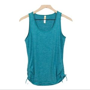 Lucy Ruched Side Tie Athletic Tank Top S